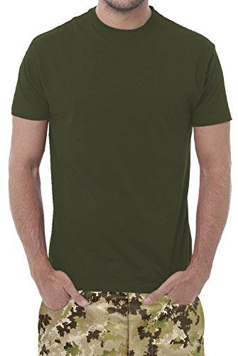 Set di n° 3 T-SHIRTS VERDE MILITARE - maglietta unisex - 100% cotone - 150 (Militari T-shirt)