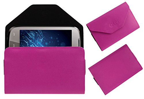 Acm Premium Pouch Case For Lava Xolo A500 Flip Flap Cover Holder Pink  available at amazon for Rs.329