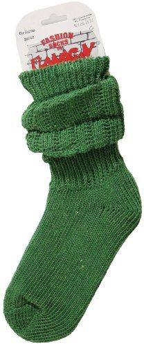 Dicke warme flauschige Schoppersocken - Stulpensocken - dunkelgrün