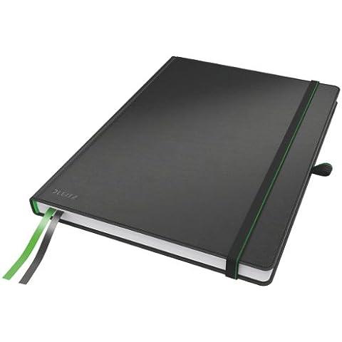 Leitz 44710095 - Cuaderno (A4, de cuadros), color negro