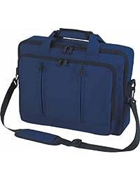 Halfar - Sac sacoche bandoulière transformable sac à dos 1802765 - bleu marine - pour ordinateur portable 15-16 pouces