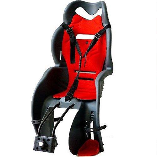 Calippo Kinder Fahrradsitz Anthrazit Rot Fahrrad Kindersitz Fahrradkindersitz Sicherheitssitz TÜV EN14344