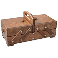 Aumueller - Costurero (madera de haya, 35 x 18 x 17 cm), color marrón