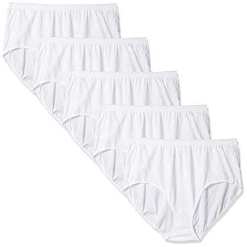 Just My Size Women's 1610w5 5 Pack Cotton Brief Panty (Assortments May Vary)