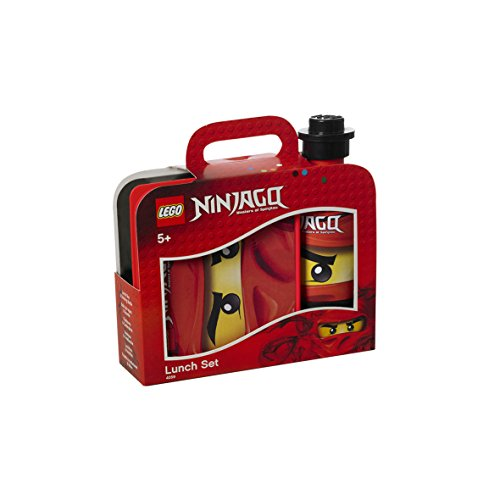 Lego Ninjago 4059 Lunch-Set (Brotdose mit 350ml Trinkflasche) rot