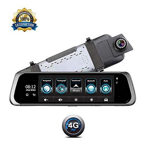 CONRAL 10 Zoll Auto DVR mit großem Touchscreen, klarem 1080P Monitor vorne und hinten, GPS, Bluetooth Freisprechfunktion, WLAN Spot Funktion, Remote Monitor für Mobile Apps, Weitwinkel Mobile 10 Bluetooth-gps