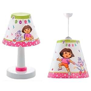 Set lustre et lampe à poser Dora l'Exploratrice