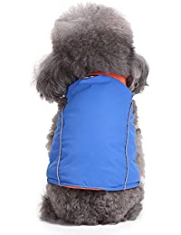 Ropa para Mascotas Chaqueta de Perro a Prueba de cálido Chaleco de Invierno 2 en 1