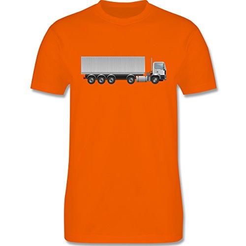 Andere Fahrzeuge - Sattelzug Container Sattel 40 Tonner - Herren Premium T- Shirt Orange