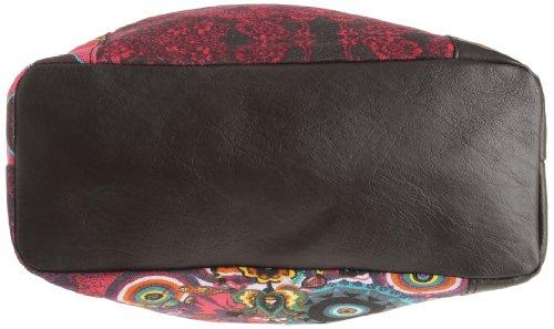 Desigual Bols_Ibiza Martina 27X5149, Borsa a tracolla donna, 41x33x12 cm (L x A x P), Rosa (Pink (Amberes/Rosa Morado 3040)), 41 x 33 x 12 cm (L x A x P)