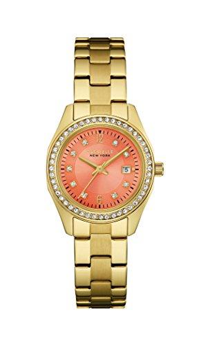 Caravelle New York 44M110 - Reloj de pulsera Mujer, Acero inoxidable, color Oro