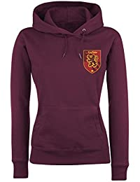 Harry Potter House Gryffindor Jersey con Capucha Mujer Burdeos