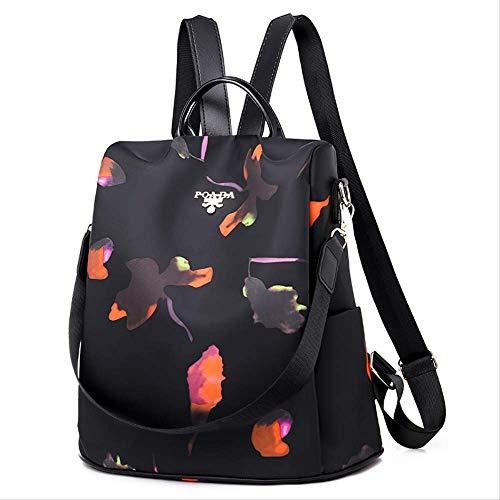 AFGUIH Rucksack Oxford Tuch Umhängetasche Neue koreanische Version der Mode mit Canvas Tasche Rucksack 8830 sbutterfly Blume 8830 Cover