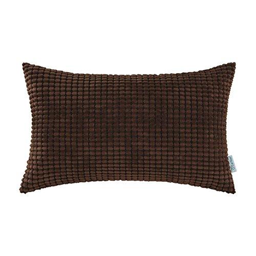 CaliTime Kissenbezüge Kissen Shells Cord Gestreift 30cm X 50cm Kaffee (Kaffee-shell)