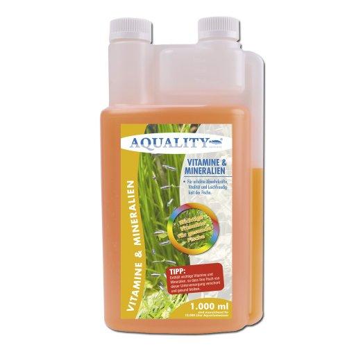 AQUALITY Vitamine & Mineralien 1.000 ml (Enthält wichtige Fischvitamine für erhöhte Abwehrkräfte, Vitalität und Laichfreudigkeit der Fische im Aquarium)