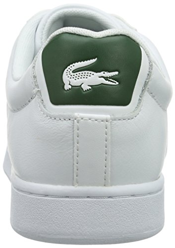 Lacoste Carnaby Evo S216 2, Baskets Basses Homme Multicolore (Wht/Grn)