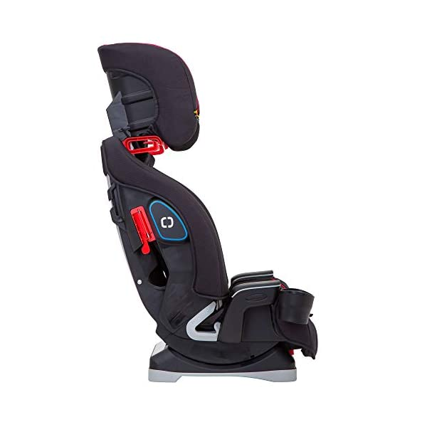 Graco SlimFit All-in-One Car Seat, Group 0+/1/2/3, Fiery Red Graco 3 in 1 car seat can be used from birth up to 36 kg (approximately 12 years). rearward facing for longer from birth to approx. 4 years (0-18kg) Easily converts to and from the three riding positions; rear-facing harnessed seat (0-18kg), to forward-facing harnessed seat (9-18kg) and to high back booster (15-36kg) True shield safety surround side impact protection for enhanced safety 7
