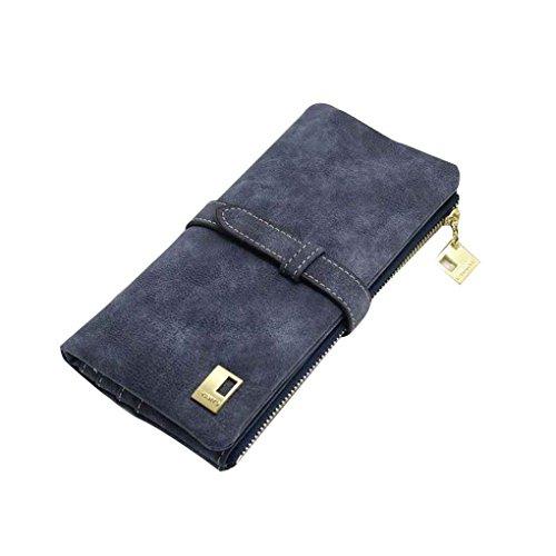 Miaomiao Due borse della borsa della borsa delle borse della borsa della frizione della borsa del cuoio dell'unità di elaborazione della matita pieghevole nero