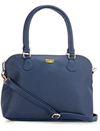 Yelloe Stylished Blue Synthetic Leather Hand Bag With Long Strap.