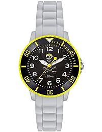 s.Oliver Jungen-Armbanduhr Analog Quarz Silikon SO-3200-PQ