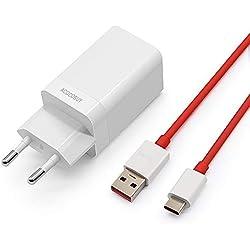 Chargeur de tableau de bord ACOCOBUY Chargeur rapide OnePlus avec câble de charge type C Charge rapide de 3,3 pieds Adaptateur secteur pour OnePlus 6T, 6, 5T, 5, 3T, 3, OPPO Rechercher X