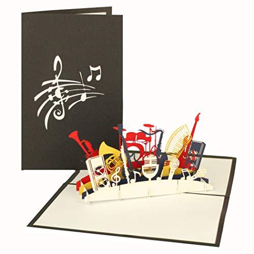 Pop Up Karte Tannenbaum.3d Pop Up Card Kit Instrument Orchestra Music Musical Instruments Birthday Card Gift Voucher Gutschein Card 3d By Cologne Cards Pop Up Card