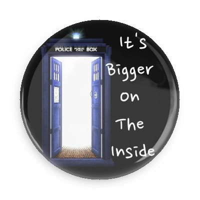 Doctor Who größer auf der Innenseite 7,6cm Kühlschrank Magnet