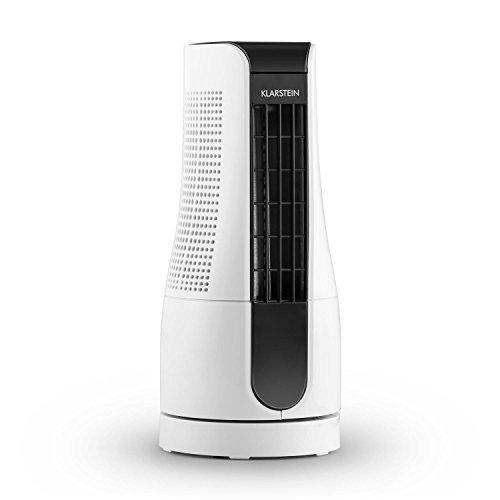 Klarstein Skyscraper Office • Mini Ventilator • Tischventilator • Säulenventilator • leise • 2 Geschwindigkeiten • Oszillation • sparsam • 16 Watt • weiß