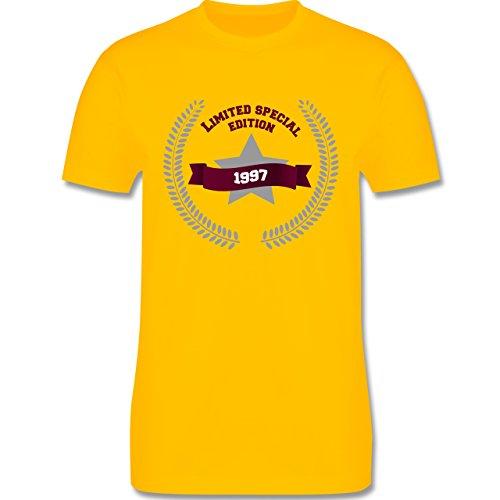 Geburtstag - 1997 Limited Special Edition - Herren Premium T-Shirt Gelb