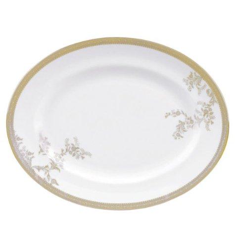 Vera Wang Wedgwood Weiß 'gold Spitze' Große ovale Auflaufform 333009004580dsol, Keramik, weiß, Lrg Oval D (Wedgwood Oval Dish)