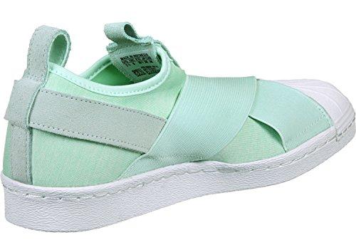 adidas Originals Superstar Slip On W Femmes Sneaker Vert S76407 vert blanc