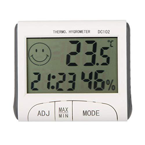 MSNDD Digitales Thermometer Hygrometer Temperatur-Feuchtemessgerät Uhr Magnetic Clock Alarmfunktion Wetterstation Diagnose-Tool -