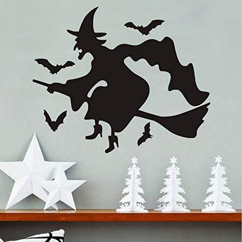 Halloween Vinyl Wandaufkleber, Schwarze Fledermäuse Diy Pvc Abnehmbare Wandtattoo, Hallowmas Dekorationen Home Decor ()