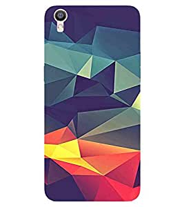 3D pattern, Multicolor, Lovely Pattern, Fantastic Pattern, Printed Designer Back Case Cover for OPPO R9s