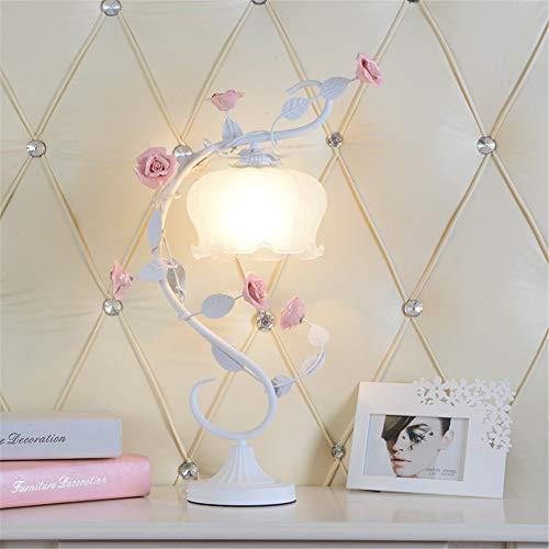 Moderno minimalista moda festivo dormitorio mesa de noche lámpara de la boda decoración de regalo oscurecimiento dormitorio mesita de noche contador de iluminación rosa grande