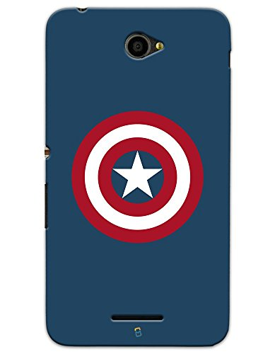 myPhoneMate Captain America Logo Designer Printed Hard Matte Mobile Case Back Cover for Sony Xperia E4