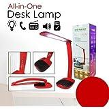 Lámpara de mesa LED recargable con altavoces Audio Radio USB risponde al teléfono tarjeta memoria