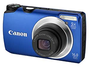 Canon PowerShot A3300 IS Digital Camera - Blue (16.0 MP, 5x Optical Zoom) 3.0 inch TFT LCD