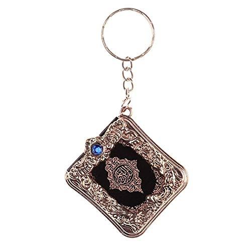 Ogquaton Schlüsselbund, Vintage Mini Buch Koran Anhänger Charm Bag Geldbörse Auto Dekor Geschenk stilvoll und praktisch
