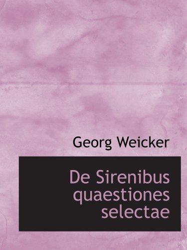 De Sirenibus quaestiones selectae