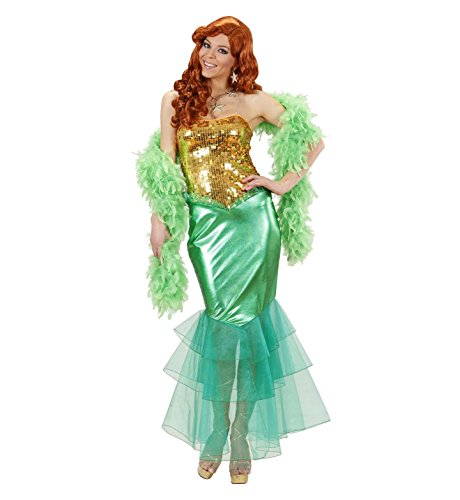 Widmann Damen Mermaid Costume Medium Großbritannien 10-12Für Programme Cartoon und Kino Kleid -