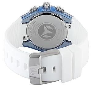 Technomarine Reloj de hombre de cuarzo con Esfera Plateada Pantalla Analógica y Azul Correa de silicona tm-115052 de Technomarine