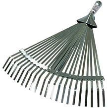 Xclou Garden 341229 Laubbesen mit hochwertiger Breitenverstellung, Rechen aus Stahl, mit Schnellverschluss, wird ohne Stiel geliefert, die Breite lässt sich leicht und stufenlos verstellen, ca. 40 x 30 x 5 cm