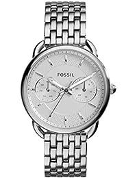 Fossil Tailor Damen Armbanduhr aus Edelstahl/Handgelenk Uhr inkl. Wochentags- & Datumsanzeige - wasserfestes, analoges Quarzuhrwerk mit Zeiger