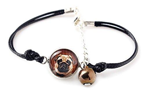 Mops, Armband für Menschen, die Hunde lieben, Foto Schmuck, - Mops-fotos