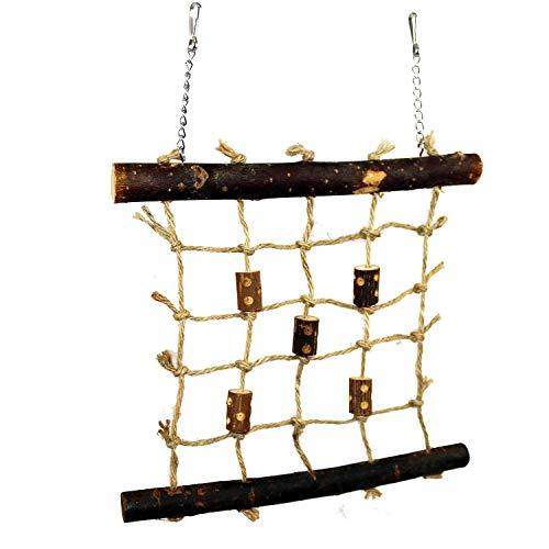 Pet Ting Natural Living Seil Kletterwand 27 x 24 cm - Vogelspielzeug, Wand, Holz, Finken, Kanarienvögel, Wellensittiche etc.