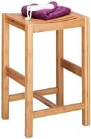 Zeller 13576 Tabouret en bambou, 35 x 30 x 55 cm