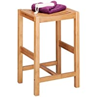 Zeller 13576 - Taburete de bambú (35 x 30 x 55 cm) - mueblesdebanoprecios.eu - Comparador de precios