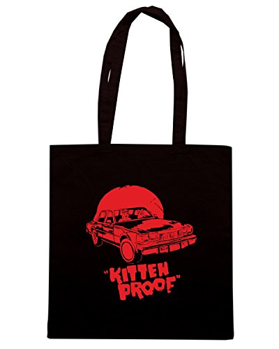 T-Shirtshock - Borsa Shopping TB0046 kitten proof Nero