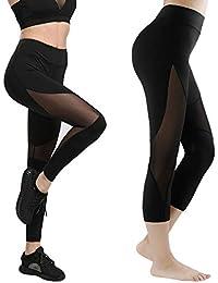 GoVIA Legging pour femme Pantalon de course à pied Pantalon de sport  respirant Pantalon de Yoga 30a47b198c7